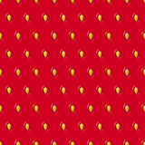 Vector seamless strawberry texture. Red pattern with berry and seeds. Royalty Free Stock Photos