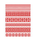 Vector seamless stripe ornamental slavic pattern Royalty Free Stock Images