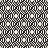 Vector seamless subtle lattice pattern. Modern stylish texture with monochrome trellis. Repeating geometric grid. vector illustration