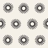 Vector seamless sunburst shapes freehand pattern. Abstract background with round brush strokes. Hand drawn texture. Vector seamless sunburst shapes freehand Royalty Free Stock Images
