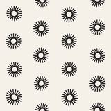 Vector seamless sunburst shapes freehand pattern. Abstract background with round brush strokes. Hand drawn texture. Vector seamless sunburst shapes freehand Royalty Free Stock Photos