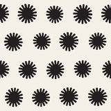 Vector seamless sunburst shapes freehand pattern. Abstract background with round brush strokes. Hand drawn texture. Vector seamless sunburst shapes freehand Stock Images