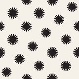 Vector seamless sunburst shapes freehand pattern. Abstract background with round brush strokes. Hand drawn texture. Vector seamless sunburst shapes freehand Stock Photography