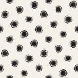 Vector seamless sunburst shapes freehand pattern. Abstract background with round brush strokes. Hand drawn texture. Vector seamless sunburst shapes freehand Royalty Free Stock Photo