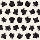 Vector seamless sunburst shapes freehand pattern. Abstract background. With round brush strokes. Monochrome hand drawn texture Stock Photo