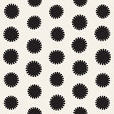 Vector seamless sunburst shapes freehand pattern. Abstract background   Stock Image