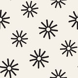 Vector seamless sunburst shapes freehand pattern. Abstract background   Stock Images
