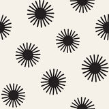 Vector seamless sunburst shapes freehand pattern. Abstract background   Stock Photos