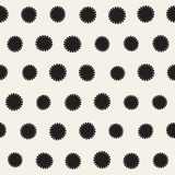 Vector seamless sunburst shapes freehand pattern. Abstract background. With round brush strokes. Monochrome hand drawn texture Royalty Free Stock Images