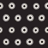 Vector seamless sunburst shapes freehand pattern. Abstract background   Royalty Free Stock Photos