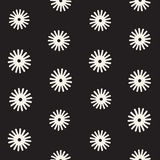 Vector seamless sunburst shapes freehand pattern. Abstract background. With round brush strokes. Monochrome hand drawn texture Stock Images
