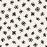 Vector seamless sunburst shapes freehand pattern. Abstract background. With round brush strokes. Monochrome hand drawn texture Royalty Free Stock Image
