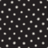 Vector seamless sunburst shapes freehand pattern.  Stock Photos