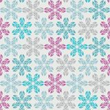 Colourful snowflakes on the white background. Stock Photography