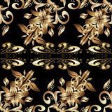Vector seamless texture. Abstract beautiful background, royal, damask ornament, vintage, rich seamless pattern, luxury, artistic vector wallpaper, floral, oldest Stock Images