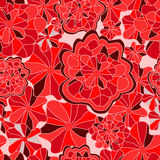 Vector seamless texture with abstract flower. ethnic seamless pa Royalty Free Stock Images