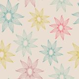 Vector seamless texture with abstract flower. Royalty Free Stock Photography