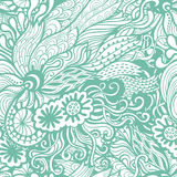 Vector seamless texture with abstract flowers. Endless backgroun vector illustration