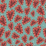 Vector seamless texture with abstract herats. Endless background. Ethnic seamless pattern. Vector backdrop. Bright royalty free illustration