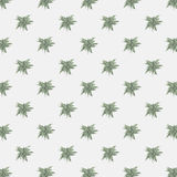 Vector seamless texture with abstract leaves. Endless background. Vector backdrop. Green pattern royalty free illustration