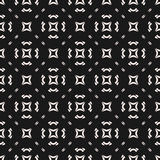 Vector seamless texture, abstract minimalist geometric pattern. With simple figures, rounded shapes, diagonal lines, squares. Dark monochrome background, repeat vector illustration