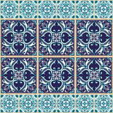 Vector seamless texture. Beautiful colored pattern for design and fashion with decorative elements and borders Stock Photo