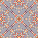 Vector seamless texture. Beautiful colored pattern for design and fashion with decorative elements Stock Image