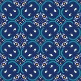 Vector seamless texture. Beautiful colored pattern for design and fashion with decorative elements. Portuguese Stock Photography
