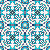 Vector seamless texture. Beautiful colored pattern for design and fashion with decorative elements vector illustration