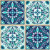 Vector seamless texture. Beautiful colored pattern for design and fashion with decorative elements stock illustration