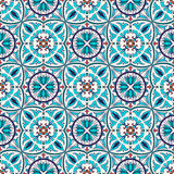Vector seamless texture. Beautiful colored pattern for design and fashion with decorative elements. Portuguese tiles, Azulejo, Talavera, Moroccan ornaments in Stock Photography