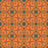 Vector seamless texture. Beautiful colored pattern for design and fashion with decorative elements royalty free illustration