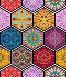 Vector seamless texture. Beautiful mega patchwork mosaic pattern Stock Photos