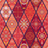 Vector seamless texture. Beautiful mega patchwork pattern Royalty Free Stock Photography