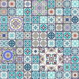 Vector seamless texture. Beautiful mega patchwork pattern  Stock Images