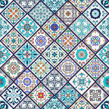 Vector seamless texture. Beautiful mega patchwork pattern for design and fashion with decorative elements Stock Photo