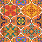 Vector seamless texture. Beautiful patchwork pattern for design and fashion with decorative elements. Portuguese tiles, Talavera, Spanish, Moroccan ornaments vector illustration