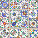 Vector seamless texture. Beautiful patchwork pattern for design and fashion with decorative elements. Set of Portuguese tiles, Azulejo, Talavera, Moroccan Royalty Free Stock Photo