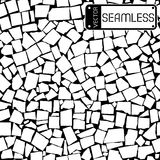 Vector seamless texture of black and white asymmetric decorative tiles wall Stock Image
