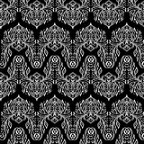 Vector seamless texture. Black and white floral pattern for design and fashion. Flowers and leaves motifs Royalty Free Stock Images