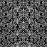 Vector seamless texture. Black and white floral pattern for design and fashion Royalty Free Stock Photos