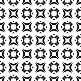 Vector seamless texture, black & white geometric figures Stock Images