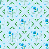 Vector seamless texture with blue flower. Seamless  texture with blue flower Stock Images