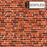 Vector seamless texture of brown realistic old brick wall with shadows Stock Photography