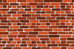 Vector seamless texture of brown realistic old brick wall with shadows Royalty Free Stock Image