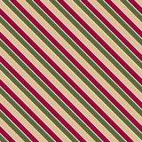 Vector seamless texture in Christmas colors with slating lines . EPS 10 stock illustration