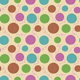 Vector seamless texture with colored balls of yarn. For design  about needlework Royalty Free Stock Images