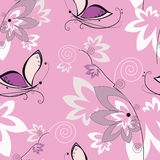 Vector seamless texture with colorful butterfly Stock Photos