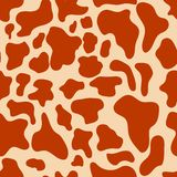 Vector seamless texture. Cow spots. Trendy background. stock illustration