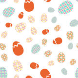 Vector seamless texture. Easter eggs with oriental spring geometric and floral ornaments Stock Photography